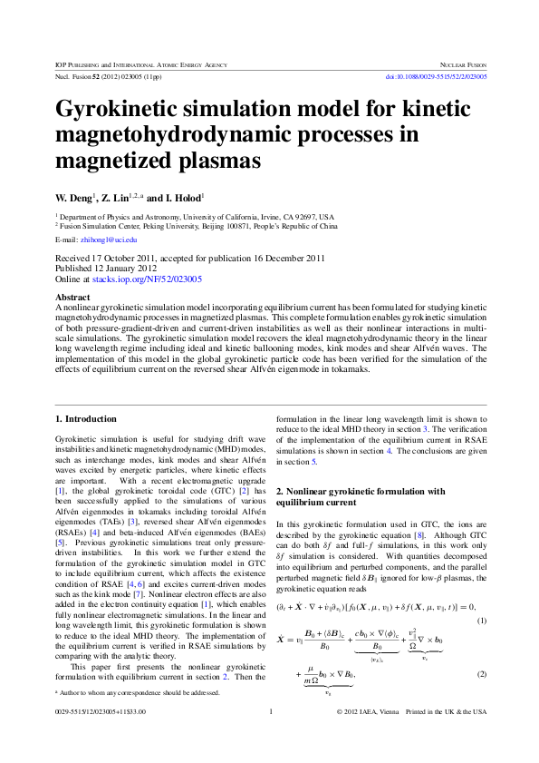 Gyrokinetic simulation model for kinetic magnetohydrodynamic processes in magnetized plasmas