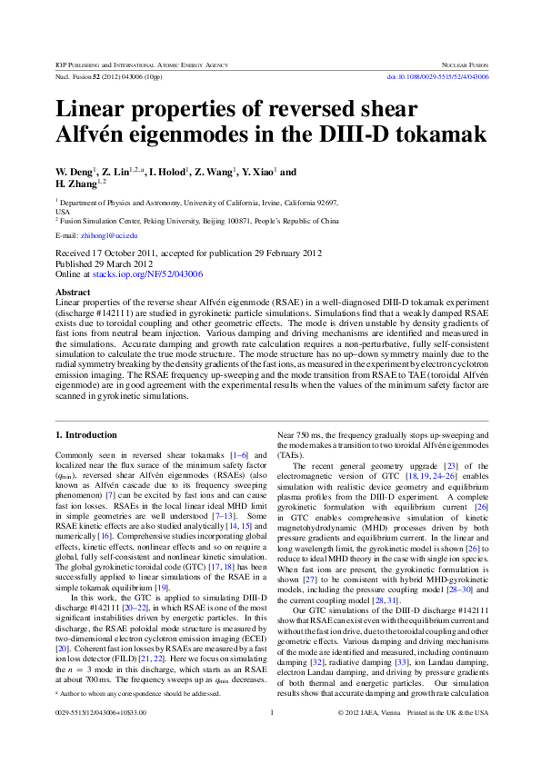 Linear properties of reversed shear Alfvén eigenmodes in the DIII-D tokamak