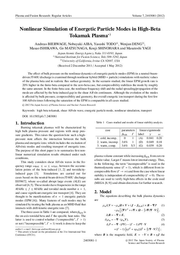 Nonlinear Simulation of Energetic Particle Modes in High-Beta Tokamak Plasma